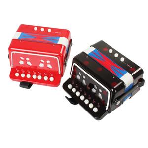 Mini Enstrüman Oyuncak 7-Anahtar 2 Bas Akordeon Mini Küçük Akordeon Eğitim Klavye Çocuklar için Müzik Aletleri Ritim Bant Akordeon
