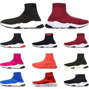 Balenciaga  черный черный белый красный плоский модные мужские женские носки спортивные кроссовки модные кроссовки Casua размер 36-45