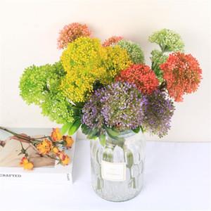 """همية قصير الجذعية ميلان (4 رؤساء / قطعة) 21.65 """"طول محاكاة البلاستيك Hydranhea الفاكهة لحضور حفل زفاف ديكور المنزل الزهور الاصطناعية"""