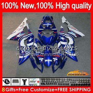 Corpo Per YAMAHA YZF R6 YZF600 YZFR6 blu fabbrica 2008 2016 68HC.154 YZF 600 R6 CC 600cc YZF600 YZFR6 08 09 10 11 12 13 14 15 16 carenature