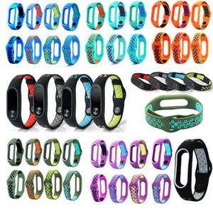 Bracelet for Xiaomi Mi Band 2 Sport Strap watch Silicone wrist strap For mi band2 bracelet Miband 2 Strap dualcolor preforated