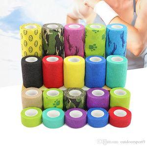 2.5-10cm 1Pcs terapia médica impermeável autoadesivo Bandage Tape Muscle Dedo Juntas wrap Prova First Aid Kit Pet Elastic Bandage