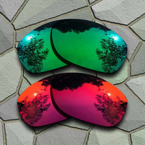 Jade Green&Violet Red Sunglasses Polarized Replacement Lenses for Pit Bull
