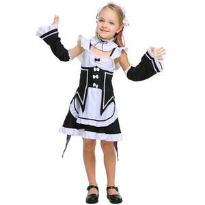 Theme Costume Re Zero Ram Rem Cosplay Life In A Different World From Costumes Maid Servant Dress Parent-child Clothing