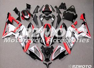 3 Regalos Nuevos kits de carenado ABS completos para YAMAHA YZF-R6 08-16 Año YZF600 2008 2009 2010 2011 2015 R6 Juego de carrocería Custom White Red