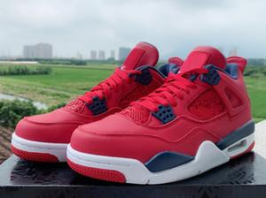 4 4s SE FIBA Gym Rosso scarpe da basket retrò da uomo 2019 4s allevate What the Silt Red Cemento bianco Sneakers PALE CITRON CACTUS JACK