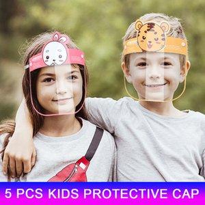 Enfants Enfants Anti-gouttelettes Visor Bouclier Chapeau Visage de protection Cap mignon tigre Panda Anti-buée Sun Chapeau