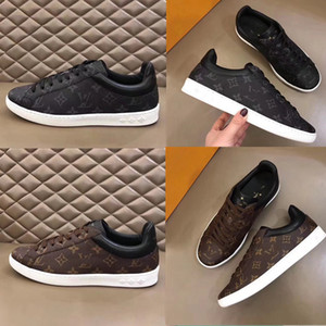 Louis Vuitton 2019 Nouveau mode de haute qualité l sport senior loisir hommes faits à la main des chaussures de taille noir et marron 38 ~ 45 xshfbcl Livraison gratuite