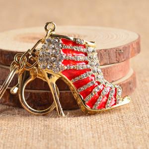 обуви брелока мило кристалл высоких каблуков Rhinestone брелка кошелек Подвеска сумка Автомобили Чистка держатель кольцо Цепочка Брелоки для сумки Подарков