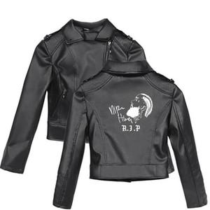 Motivo Nipsey Hussle con la chiusura lampo del rivestimento di cuoio Plus Size maniche lunghe cappotto femminile dell'adolescente tuta sportiva di stile
