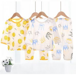 Karikatür Ayı Ev Giyim Çocuk pijamaları Giyim Setleri Erkekler Kızlar Tasarımcı Çocuklar Short Sleeve Suit Çocuk Ev Giyim Perakende ayarlar