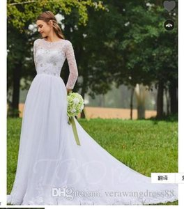 Wedding Dresses 2018 Beaded Long Sleeve Mermaid Wedding Dress