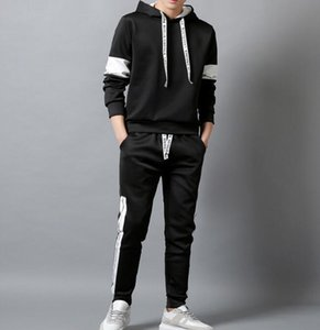 Autumn men's casual suit NIK men's long-sleeved sports sweater youth spring and autumn trend two-piece suit WY782