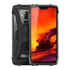 6GB 128GB Blackview BV9700 Pro Vision nocturne Détection de fréquence cardiaque IP68 1.5m Goutte étanche Preuve NFC Octa base 4G LTE Smartphone Android 9.0