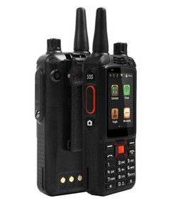 F22 + SIM kart walkie talkie 3G Su Geçirmez SOS Yükseltme F22 Artı Android WCDMA GPS Ağı Akıllı walkie talkie cep telefonu