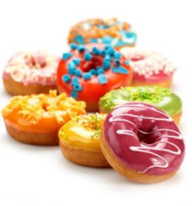 Bakeware Silikon Donut Kalıp Silikon Kek Kalıp Donut Kalıp Pişirme Kalıpları 26 * 18 cm Çapı 7 cm