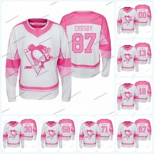 Sidney Crosby Pittsburgh Penguins 2019-20 Jersey Fishion chica Kris Letang Jake Guentzel Evgeni Malkin Alex Galchenyuk Patric Hornqvist