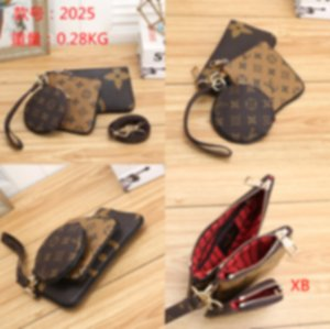 Top-2025 New trend of 2019 vintage Envelope bag mini chain one-shoulder cross-body zero wallet card bag three-piece set