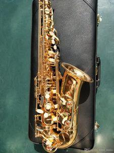 New JUPITER JAS-500 Eb Alto Saxophone Alto Sax Or Laque instrument de musique Tube Gold Key Sax Avec Embouchure cas