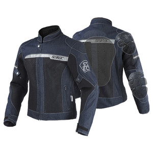 SSPEC Chaquetas de equitación para hombre Moto Gear Suit Protection Chaqueta de moto denim Reflective 5 pcs Protector Pads S ~ XXXL