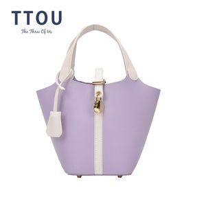 TTOU Sac Vintage Fashion Femme fourre-tout Bucket 2020 neuf de haute qualité en cuir PU Designer de femmes Sac à main Voyage Messenger épaule