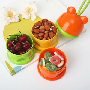 3 Camadas Armazenamento de Alimentos bebê Organizador do bebê leite em pó fórmula dispensador recipiente de armazenamento de alimentação Hot Box
