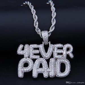 ICED OUT CZ BLING 4EVERPAID PENDANT NECKLACE MENS Micro Pave Cubic Zirconia Simulated Diamonds Necklace ForeverPaid