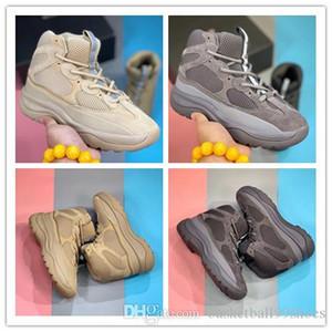 Con la caja de Kanye West Desert Boot Desert Rock arranque aceite Desert Boot Sal Coming Blush Utilidad Negro Súper Luna Amarillo Hombres zapatillas de deporte