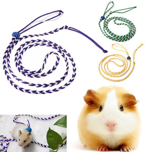 1.4m Hamster Pet Rat Mouse Harness Cage Leash Traction Adjustable Rope Walking Bend Rope Color Button Leash Pet Supplies