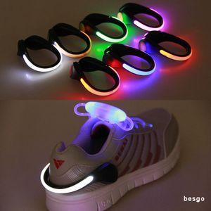 LED Clip de chaussure de sécurité Night Light LED d'avertissement lumineux Flash Light pour la course à vélo Vélo Utile extérieur outil LED lumineux Toy Enfants BC BH3111