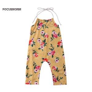 Pudcoco Verão Newborn Baby Girl Romper Floral Sem Costas Belted One Piece Macacão Clothes Outfit