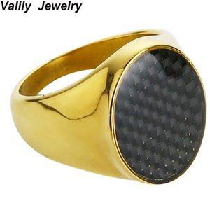 Valily monili del Mens Anello semplice rotonda trasparente anello dello smalto in acciaio inossidabile della barretta di modo Bnad Ring per le donne l'all'ingrosso
