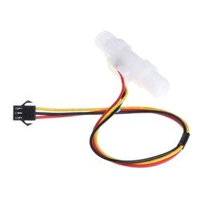 Sensor Medidor 0.3-3.0L / min líquida plástica nivel de agua Flow Male G1 / 4