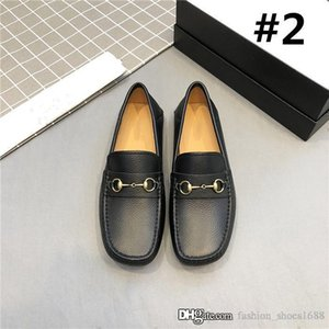 2020 Men Mocassin In Genuine Leather Classic Buckled Loafers Comfortable Vintage Casual Shoes With Box Size 38-45