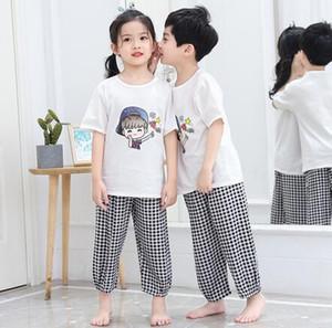 Schlaf Kleidung neue Baumwollpyjamas Baby Klimaanlage Sommerkleidung Kinder Dünnschnitt Baumwolle Seide Home-Service-Mix Matte zu Hause Tücher