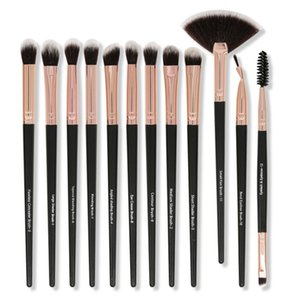 12pcs Eye Makeup Brush Set Eyeshadow Eyebrow Eyelash Brush Lip Smudge Kit