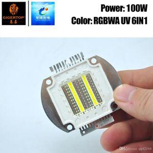 Freeshipping 100W RGBWA UV 6in1 Cor COB lâmpada para Leko Luz Waterproof Light Par Led Blinder Luz