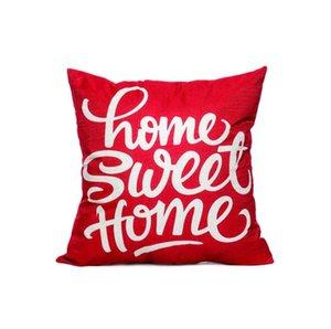 Lino Throw Pillow caja cuadrada único dormitorio Funda de almohada y salón sofá cama casa decoración INS Home Sweet Home