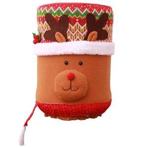 Christmas Drinking Bucket Cartoon Dust Cover Christmas Decoration Supplies Cute Water Dispenser Barrel Cover