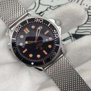 2020 Diver 300M 007 Edition Mens Watch Sea Master Black Planet 600m Co Axial meccanico automatico Acciaio Movimento sport maschio da polso