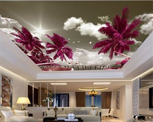3d moderne Fond d'écran fantastique Swan Lake Home Decor Salon Chambre Zenith HD Wallpaper