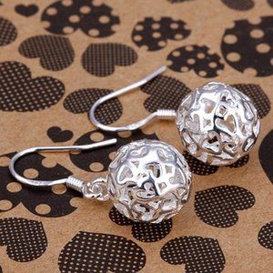 925 Silver Plated Earring Lovely Stereo Ball Fashion Lady Jewelry High Quality Mix Styles Best Holiday Christmas Gift C0954