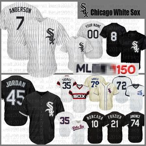10 Yoan Moncada 8 Bo Jackson 45 Michael Baseball Jersey 72 Carlton Fisk 21 Todd Frazier 35 Frank Thomas 79 Jose Abreu Chicago White d daffgv