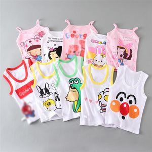 Cartoon Baby Tanks Girls Summer Vest Toddler Clothes Boy Cute Tank Tops Cotton Sleeveless Shirts Cool Children Kids Wear