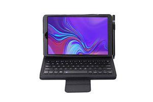 Capa de Couro macio Litchi com teclado Bluetooth destacável para Samsung Galaxy Tab S6 10,5 2,019 T860 / T865 Tablet SA860 + Stylus