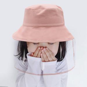 Primavera Verano 6 colores del polvo anti anti Spatter niebla Sun prueba Máscara Sombrero escudo protector para niños de los niños 5-12 años de edad DHA20