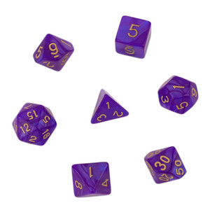 7pcs Set Polyhedral Dice Lados For TRPG Board Game Dungeons And Dragons Acrylic D4-D20 Bright Color Dados De Doce