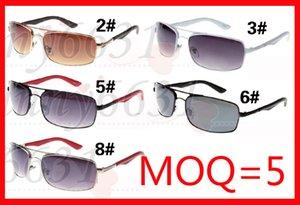 5 PZ NUOVO uomo moda all'aperto occhiali da sole uomini montatura in metallo occhiali lenti vintage occhiali da sole di marca designer ciclismo VETRO UV400 freeshipping