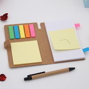 Книга пряжки Kraft Paper Примечание, Удобство офиса Примечание, Удобство комбинации Стикер с ручкой