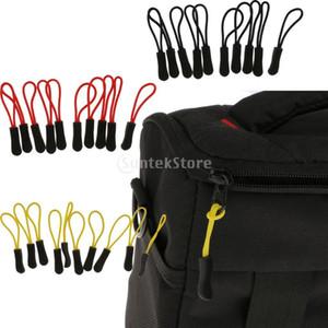 10 unids / lote Zipper Pulls Reemplazo Zip Puller Slider Jacket Mochila Negro / rojo / amarillo C19041101